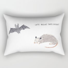 Late Night Date Night Rectangular Pillow
