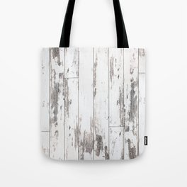 White Wood Tote Bag