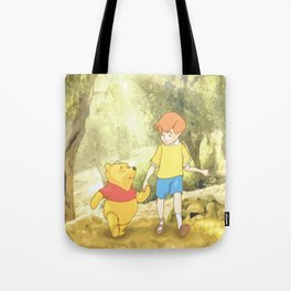 Christopher and Pooh Bear Tote Bag