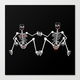 Skeleton Male & female Canvas Print