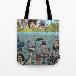 Lonely Hearts, Rubber Soul & Magical Yellow Submarine Tour Tote Bag
