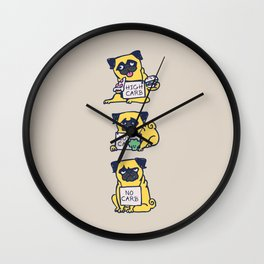 High Carb Low Carb No Carb Wall Clock