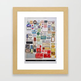 What´s in your box? Framed Art Print