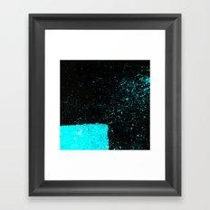 Black & Blue Framed Art Print