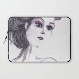 Fashion Illustration Portrait  Laptop Sleeve