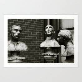 Three heads are better than one Art Print