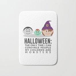 My Children Are Monsters Halloween Design Bath Mat
