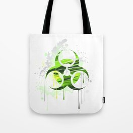 Symbol of Biological Danger Drawn with Paint Tote Bag