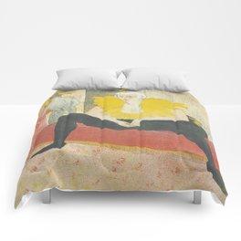 """Henri de Toulouse-Lautrec """"Sitting Clown"""" Comforters"""