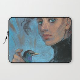 A girl with a starling Laptop Sleeve