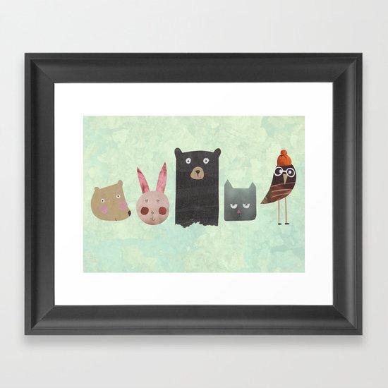 Animal love Framed Art Print