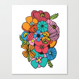 Flowers (White Background) Canvas Print
