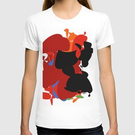 Red Black Forest Colorful Abstraction Digital Art - RegiaArt T-shirt