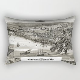 Newport News - Virginia - 1891 Rectangular Pillow