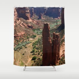 Spider Rock - Amazing Rockformation Shower Curtain