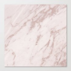 Real Rose Gold Marble Canvas Print