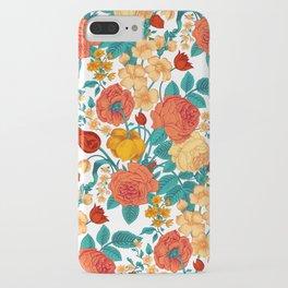 Vintage flower garden iPhone Case