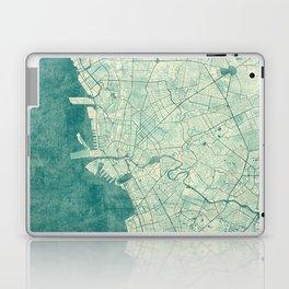 Manila Map Blue Vintage Laptop & iPad Skin