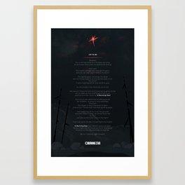 Anthem for O Burning Star Framed Art Print