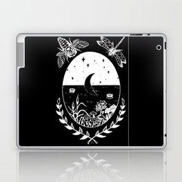 Moon River Marsh Illustration Invert Laptop & iPad Skin