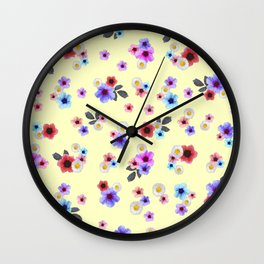 Spring Floral Meadow Wall Clock