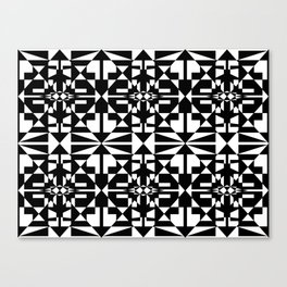 Black and White Tile 5/4/2013 Canvas Print