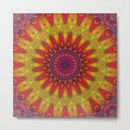 Positive Energy Mandala Metal Print