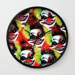 Halloween Horrorclown Collage Wall Clock
