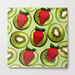 KIWI AND STRAWBERRY COCKTAIL Metal Print