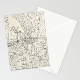 Vintage Map of Syracuse New York (1873) Stationery Cards