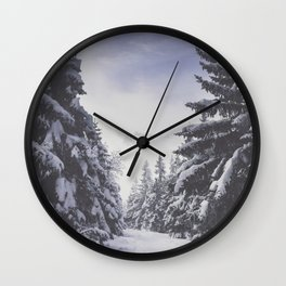 It's gonna clear up - Landscape and Nature Photography Wall Clock