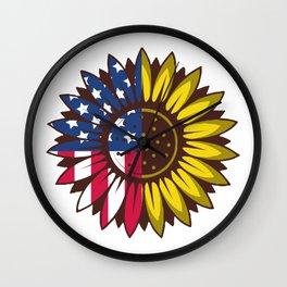 Flower Nature America American Environmentalist Gift Wall Clock
