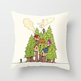 Treehouse Throw Pillow