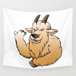 Mountain Goat cartoon. Wall Tapestry