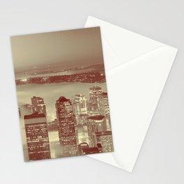 Love Seattle Skyline Panorama Stationery Cards