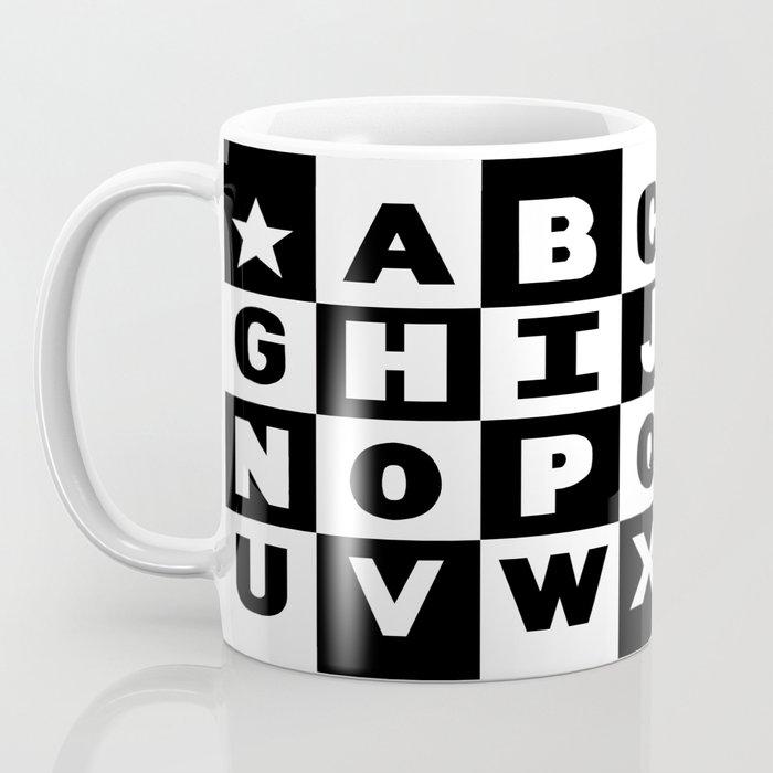 Alphabet Black and White Coffee Mug