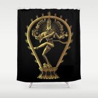 shiva Shower Curtains featuring Shiva by Aurapim Vorasopan
