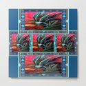 WESTERN STYLE DESERT AGAVE PAINTING BLUE PATTERN by sharlesart
