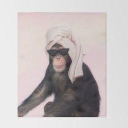 Chimpanzee Throw Blanket