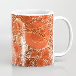 Rust Orange Bubble Abstract Coffee Mug