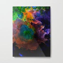 A Galacti Sky in Neon Metal Print