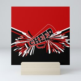 Dark Red Cheerleader Spirit Mini Art Print