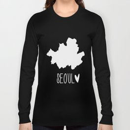 Seoul (Map) Long Sleeve T-shirt