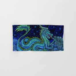 Chinese Azure Dragon Hand & Bath Towel