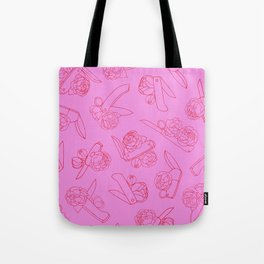 Peonies and Switchblades Tote Bag