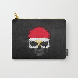 Flag of Egypt on a Chaotic Splatter Skull Carry-All Pouch