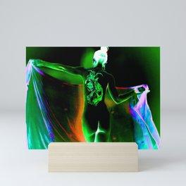 Anonymous Inked Nude 1 (Variation) - Green Sorceress Mini Art Print