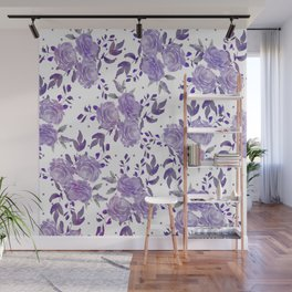 Bouquet of Purple Roses Wall Mural