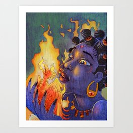 Fire Maiden Art Print
