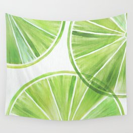 Fresh Lime ~ Summer Citrus Wall Tapestry